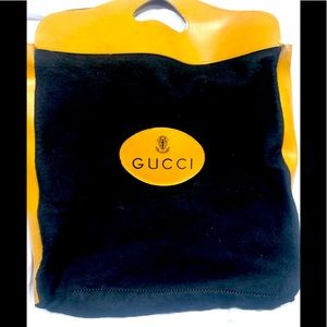 GUCCI vintage felt and leather shopper tote